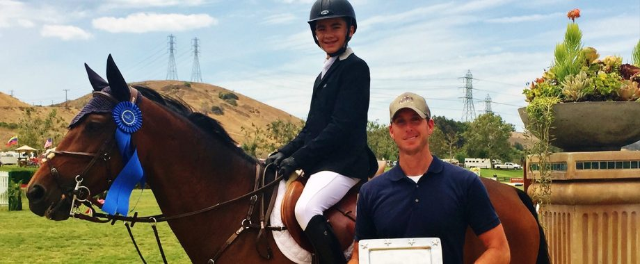 Winner at horse show